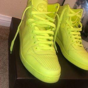 Men's high top Neon Gucci Sneakers